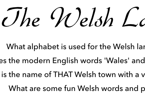 About the Welsh Language