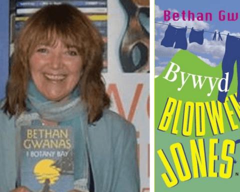 Bethan Gwanas with Bywyd Blodwen Jones cover