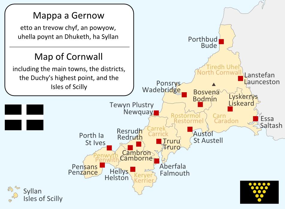 CornwallKernowMappa