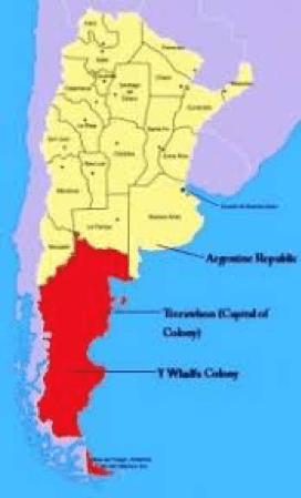 Dafydd Roberts Patagonia Map