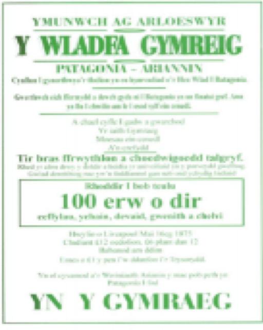 Dafydd Roberts Patagonia Y Wladfa Gymreig
