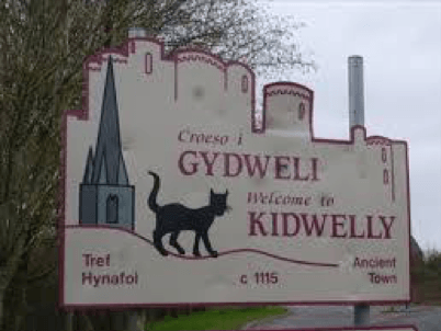 Dafydd Roberts Sir Gaerfyrddin Arfbais Cidwely