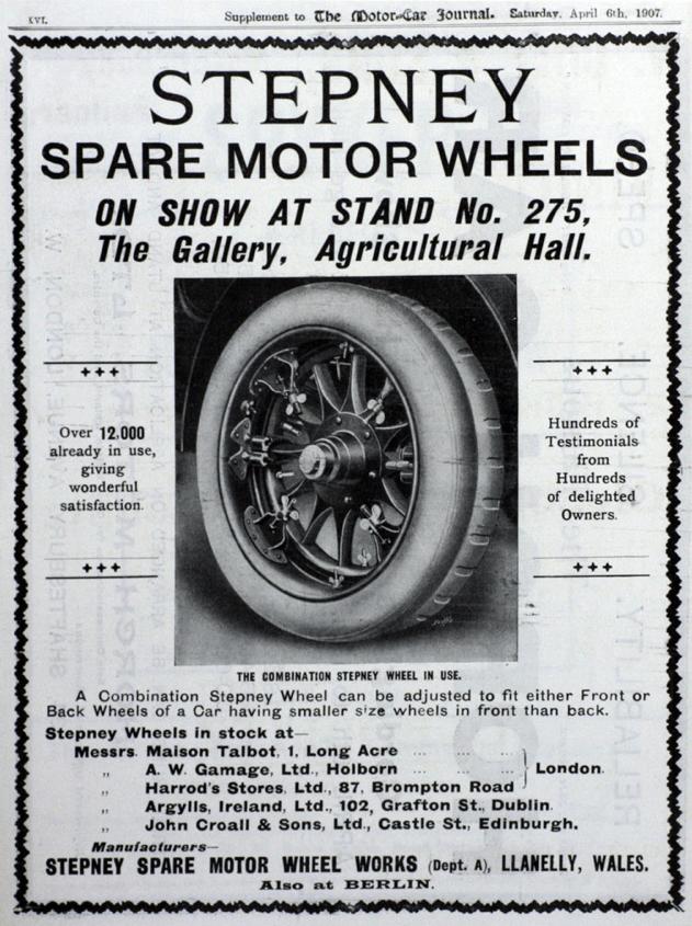 Dafydd Roberts Sir Gaerfyrddin Stepney Wheels 1