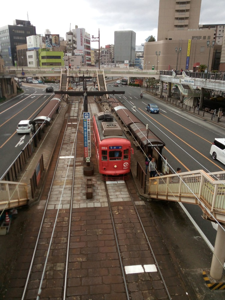 A Nagasaki blue line tram