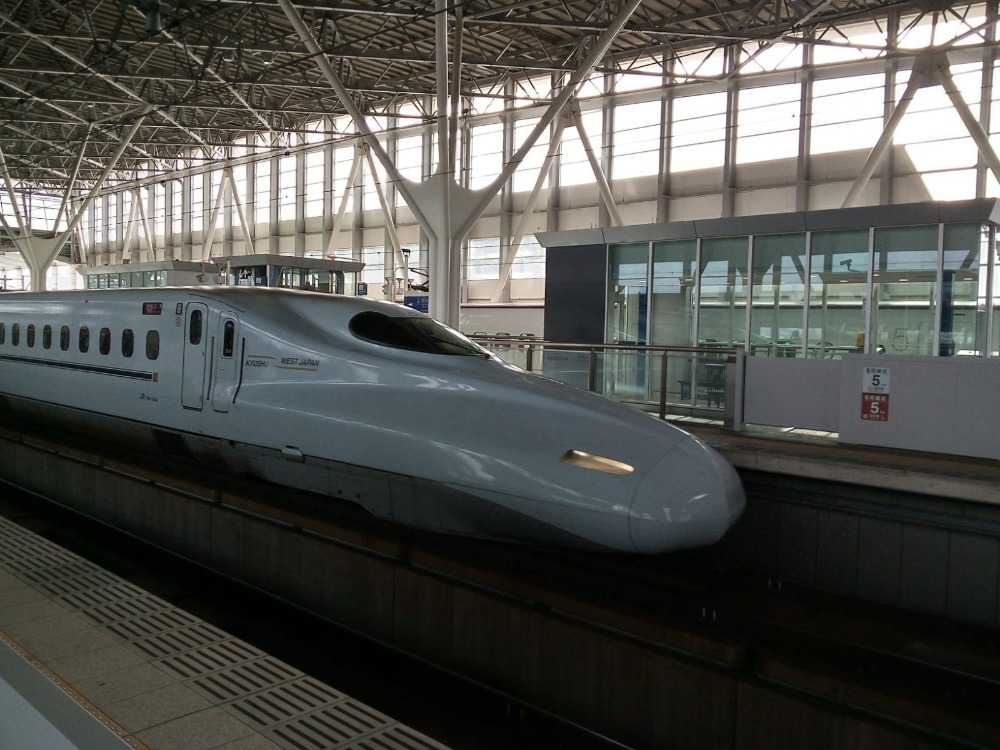 Bullet train bound for Kumamoto