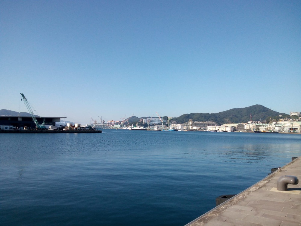 Early morning walk at Nagasaki waterfront