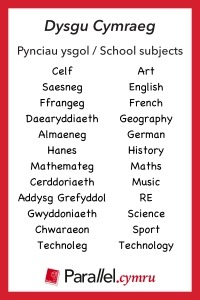 Geirfa Themateg School Subjects