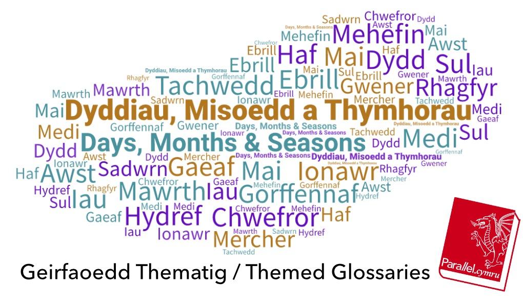 Geirfa Thematig Dyddiau, Misoedd a Thymhorau