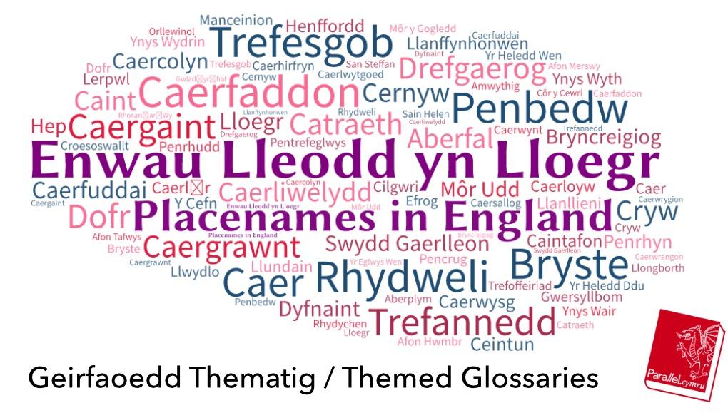 Geirfa Thematig Enwau Lleodd yn Lloegr