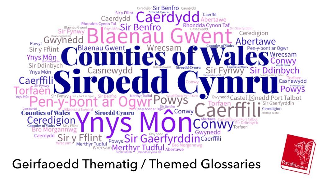 Geirfa Thematig Siroedd Cymru