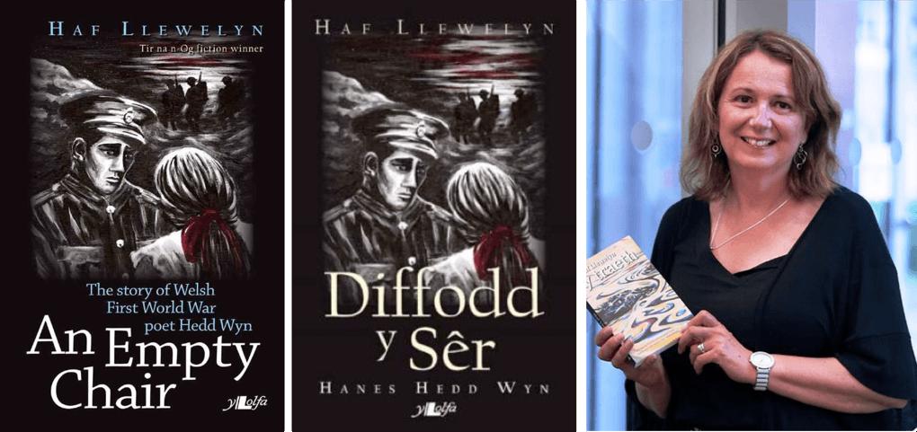 Awdur Haf Llewelyn- Creu Diffodd y Sêr: Nofel Hedd Wyn / Author Haf Llewelyn- Creating An Empty Chair: a novel about Hedd Wyn