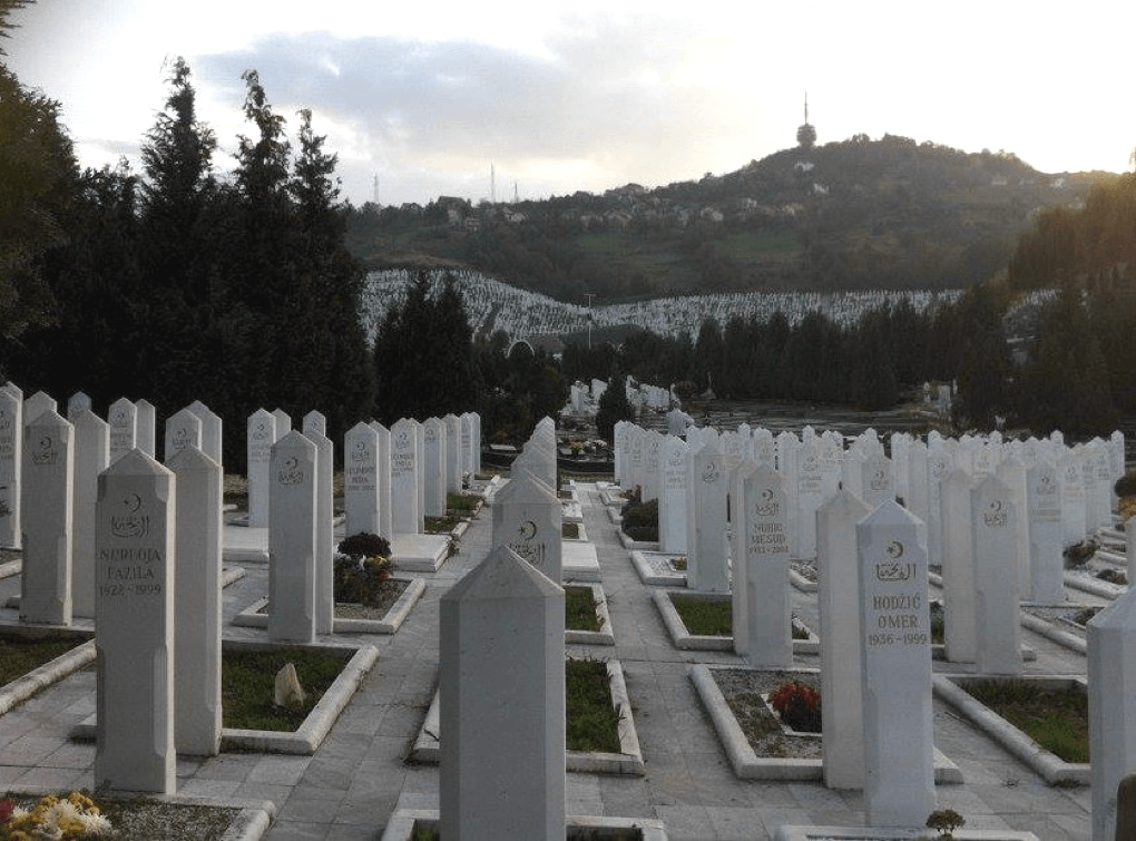 War graves in Srebrenica