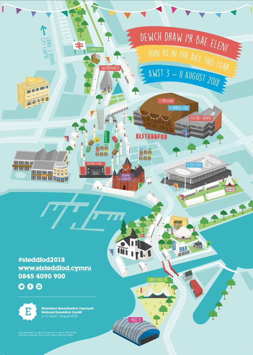 Map Eisteddfod darluniadol ebrill 2018