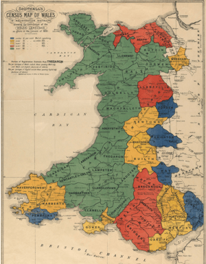 Map o Gymru Southall's Census 1891