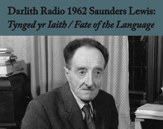 Saunders Lewis Tynged Yr Iaith