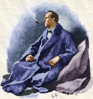 Sherlock Holmes, wedi'i peintio gan Sidney Paget