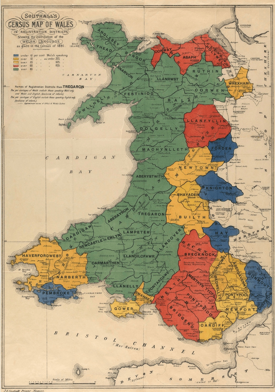 Southall's Census Map of Wales 1891