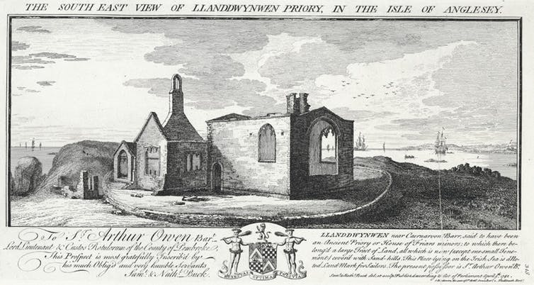 The church of Llanddwynwen or Llanddwyn in the 18th Century