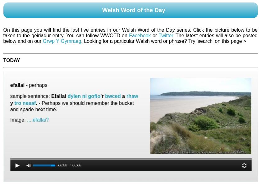 Welsh Word of the Day
