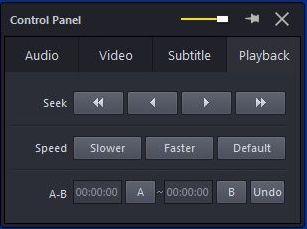 Screengrab of Potplayer- control panel